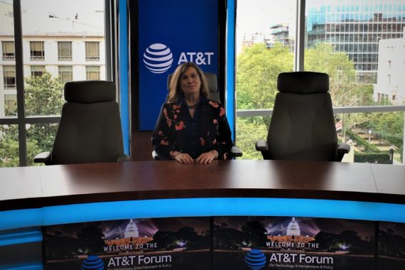 Kristi at AT&T forum -news desk- 7-31-18